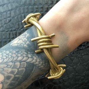 Jewelry - BARBED WIRE BRASS BANGLE